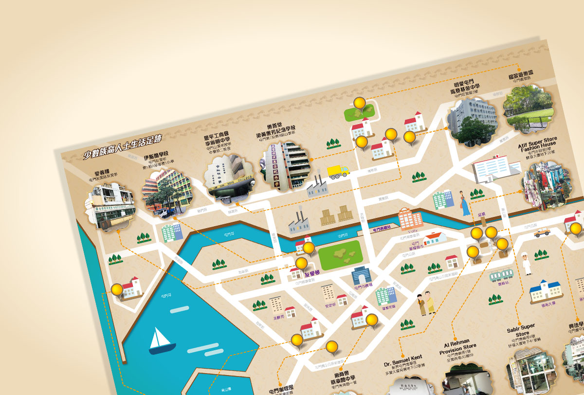 Inmedia Design: Introduction to the history of ethnic minorities-Leaflet map design